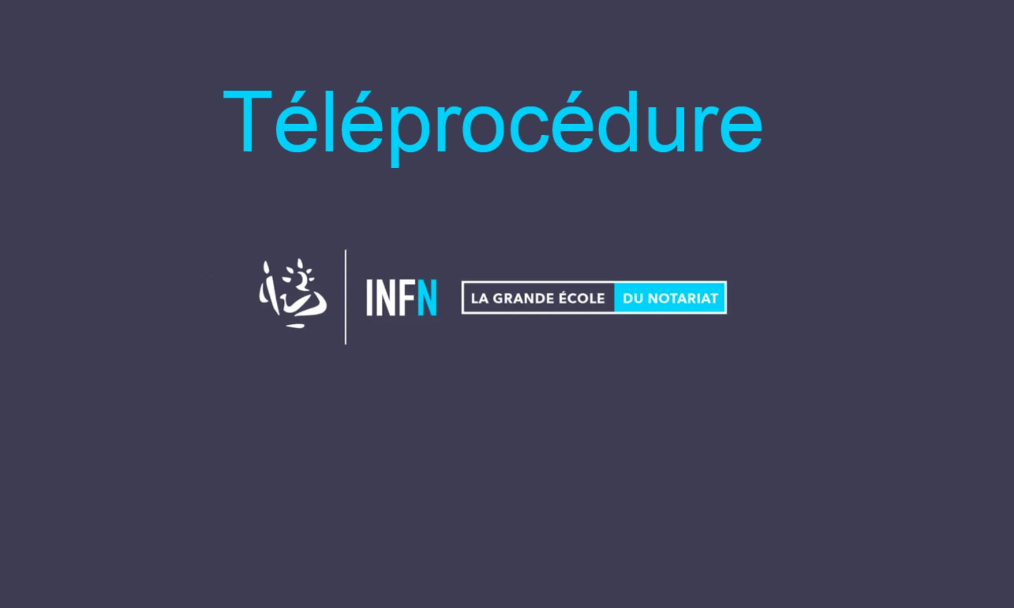 Portail Téléprocédures - INFN